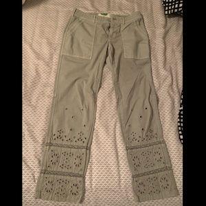 Anthropologie Pants - Anthropologie Eyelet Wanderer Utility Pants